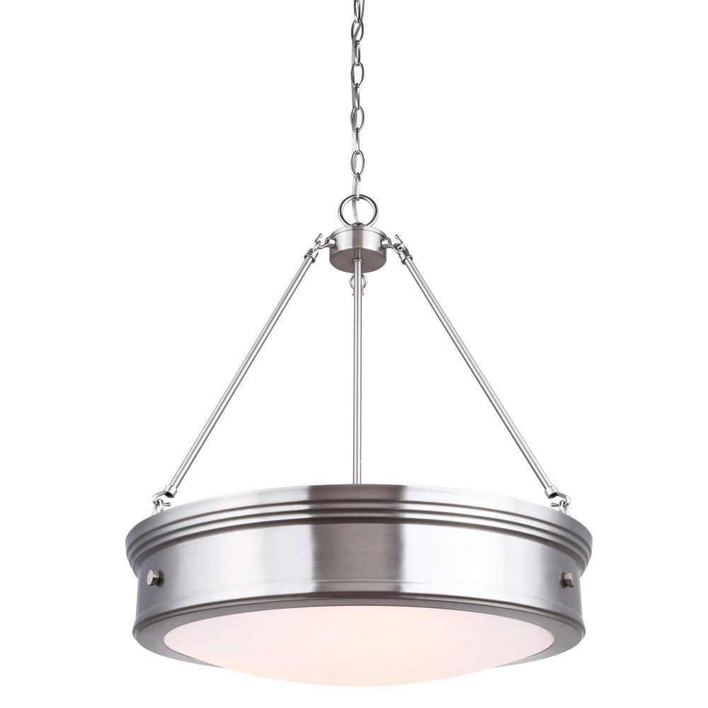 Canarm boku 4 light brushed nickel chandelier with flat opal glass canarm boku 4 light brushed nickel chandelier with flat opal glass shade arubaitofo Images