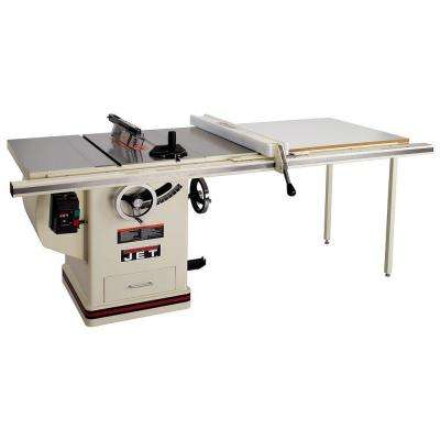 Blade guard system jet table saws saws the home depot deluxe xacta saw table saw with 50 in fence greentooth Images