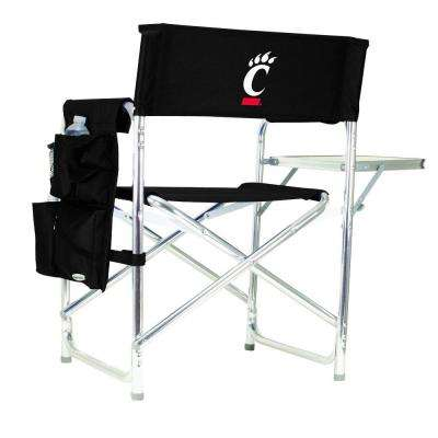 University of Cincinnati Black Sports Chair with Embroidered Logo
