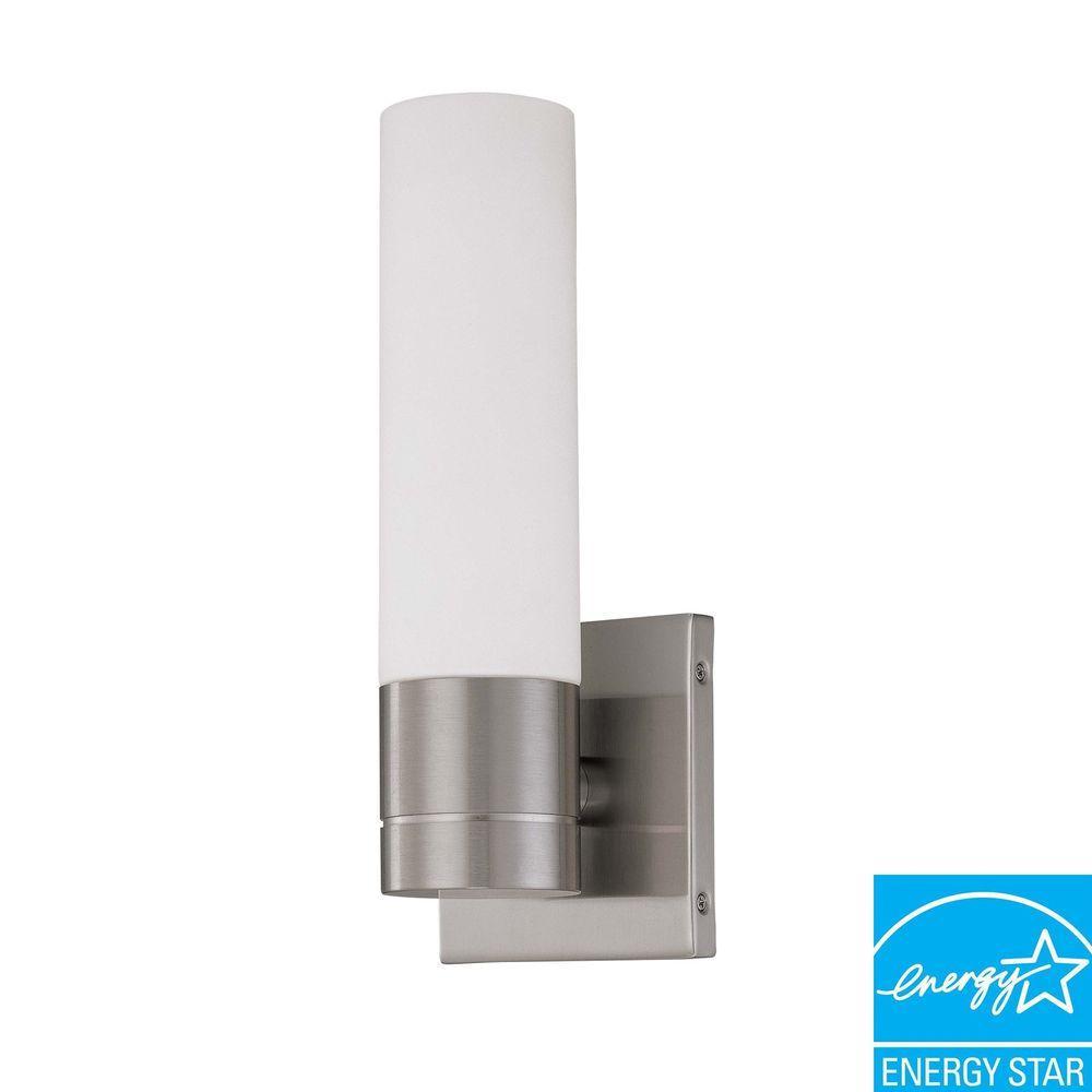 1-Light Brushed Nickel Fluorescent Sconce