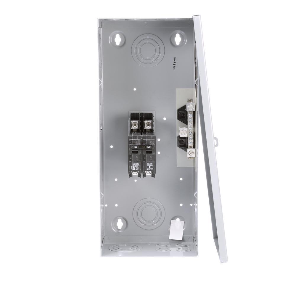 100 Amp 2-Space 2-Circuit Small Main Breaker Indoor Load Center Enclosures Type EQ