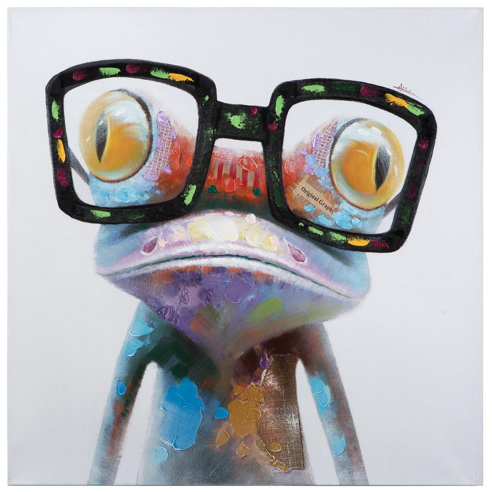 Yosemite Home Decor 40 In X 40 In Hipster Froggy Artac0288 The