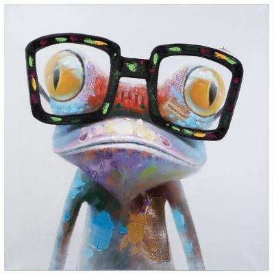 40 in. x 40 in. Hipster Froggy