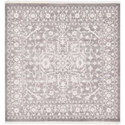 Arcadia Light Gray 8 ft. x 8 ft. Square Area Rug