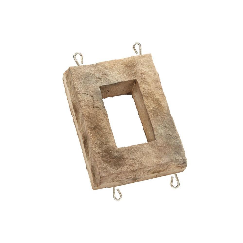 ClipStone Cream 6 in. W x 8 in. H Outlet Stone, Cream - natural stone finish
