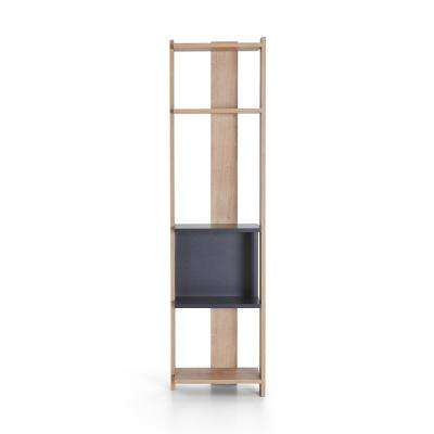 Bowie Oak and Anthracite Modern Bookcase