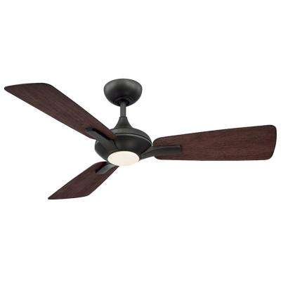 Mykonos 52 in. LED Indoor/Outdoor Bronze 3-Blade Smart Ceiling Fan with 3000K Light Kit and Wall Control