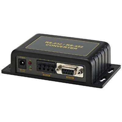 Isolated RS-232 to RS-422/RS-485 Converter in Black