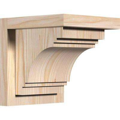7-1/2 in. x 8 in. x 8 in. Douglas Fir Pescadero Smooth Corbel with Backplate