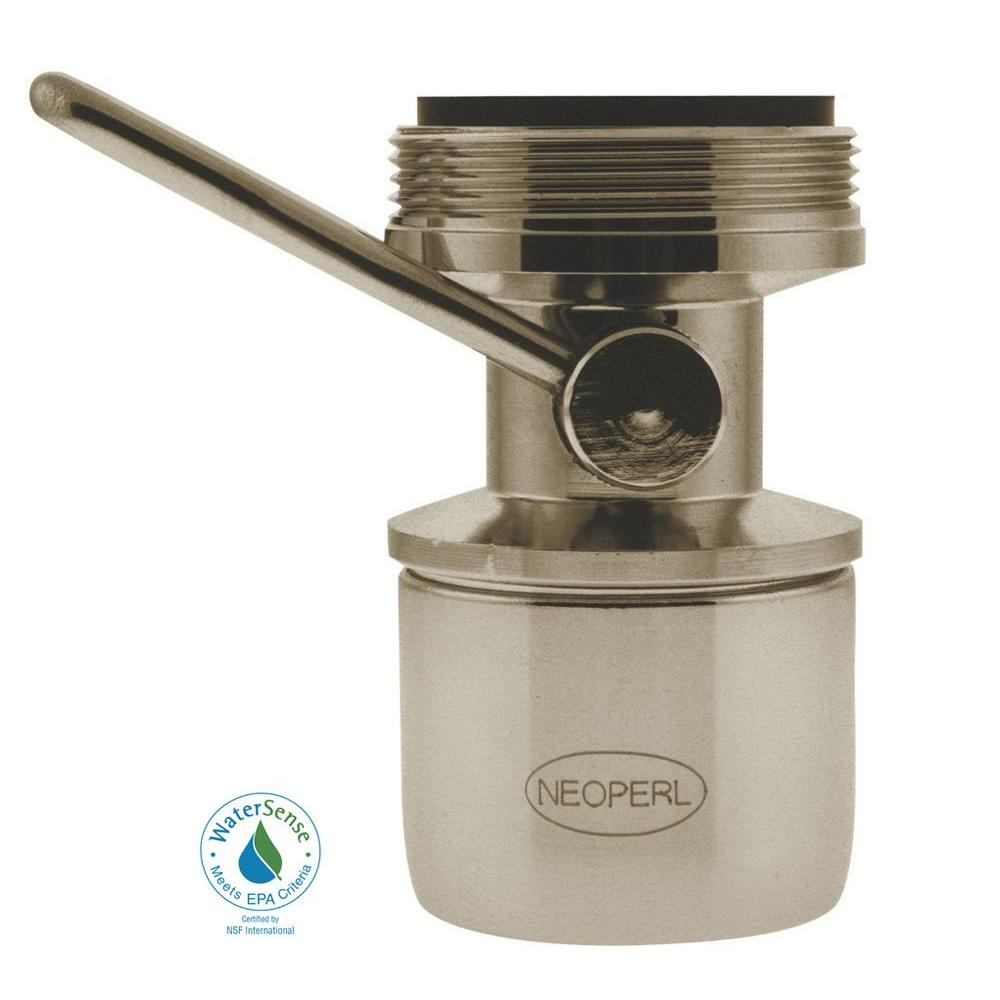 NEOPERL 1.5 GPM Dual-Thread On/Off Water-Saving Faucet Aerator in Brushed Nickel
