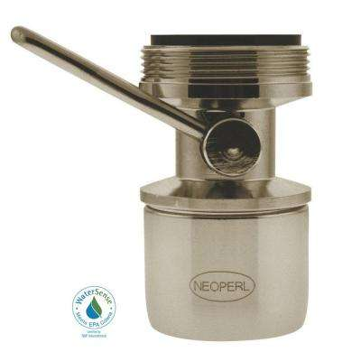 1.5 GPM Dual-Thread On/Off Water-Saving Faucet Aerator in Brushed Nickel