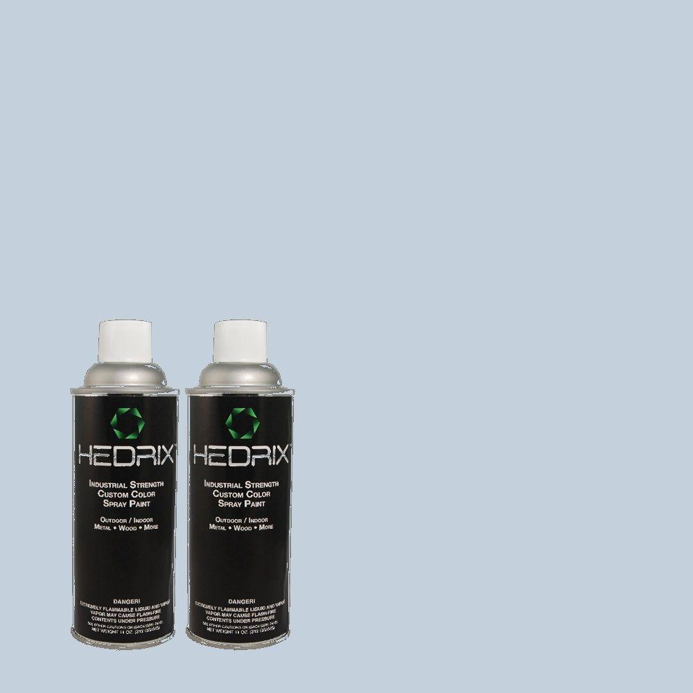 Hedrix 11 oz. Match of 580C-3 Impressionist Sky Semi-Gloss Custom Spray Paint (2-Pack)
