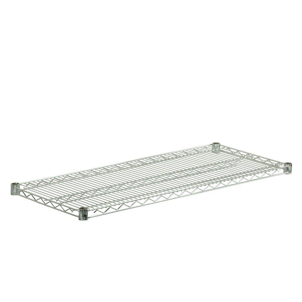 Honey-Can-Do 16 in. x 36 in. Steel Shelf in Chrome