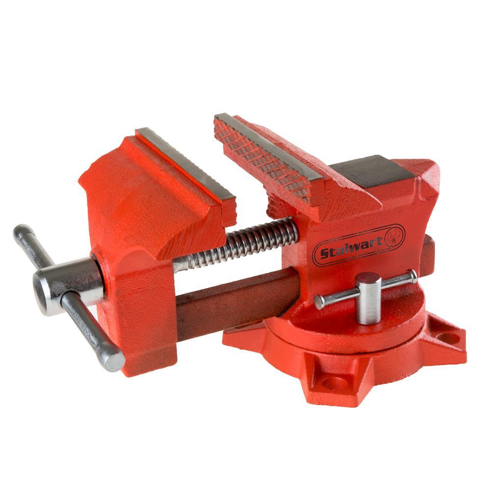 Stalwart 4.5 inch Jaw Vise with Locking Base by Stalwart