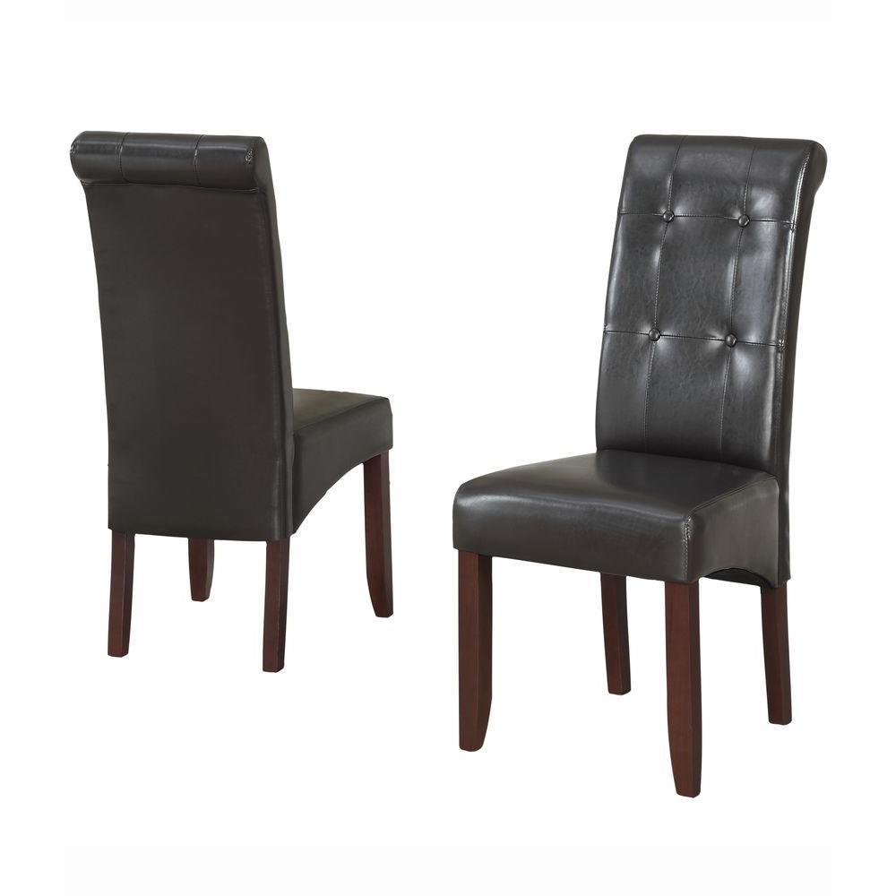 Remarkable Simpli Home Cosmopolitan 9 Piece Dining Set With 8 Creativecarmelina Interior Chair Design Creativecarmelinacom