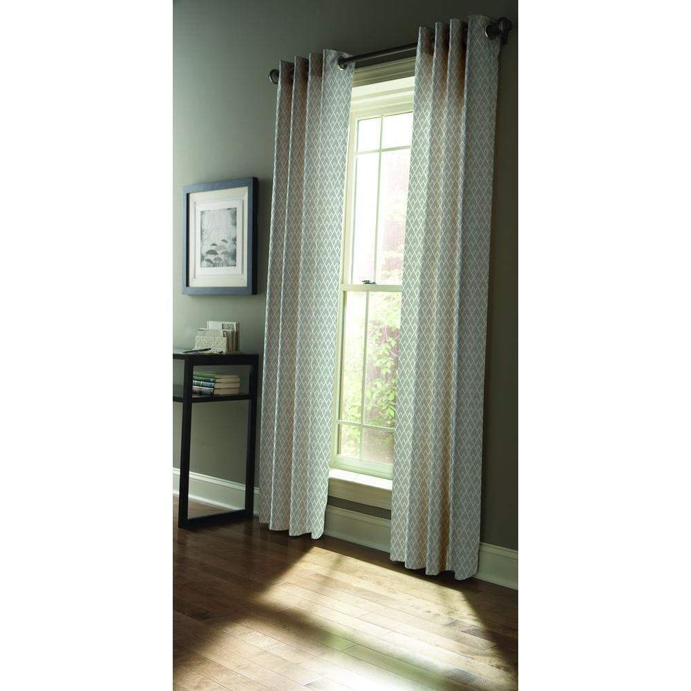 Semi-Opaque Zinc Diamond Sky Grommet Curtain