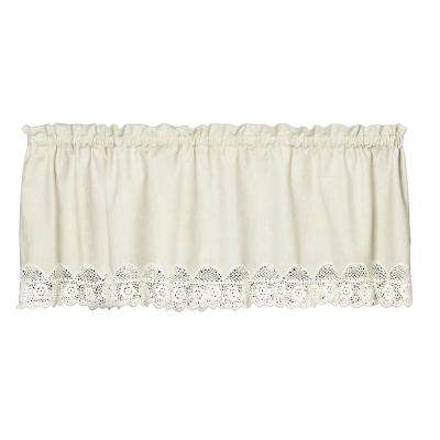 Starfish 16 in. L Polyester Valance in Natural