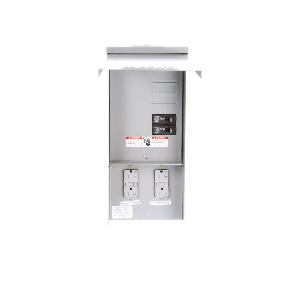 Siemens Temporary Power Outlet Panel with Two 20 Amp Dupl...