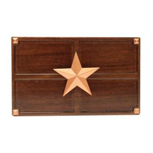 Hampton Bay Wireless or Wired Door Bell, Medium Oak Wood with Texas Star... by Hampton Bay
