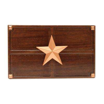 Wireless or Wired Door Bell, Medium Oak Wood with Texas Star Medallion