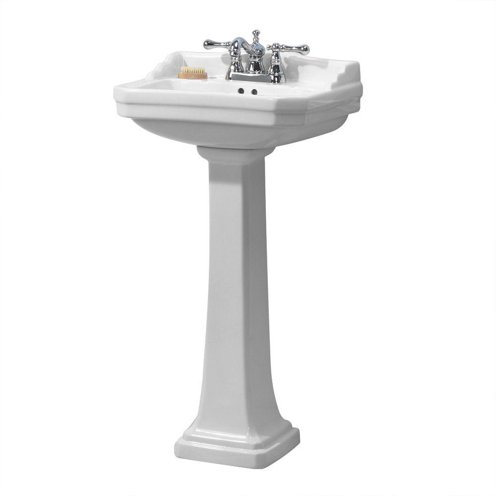 foremost series 1920 pedestal combo bathroom sink in white fl 1920 4w the home depot