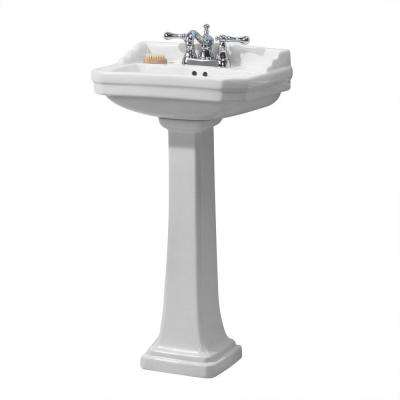 Series 1920 Pedestal Combo Bathroom Sink in White
