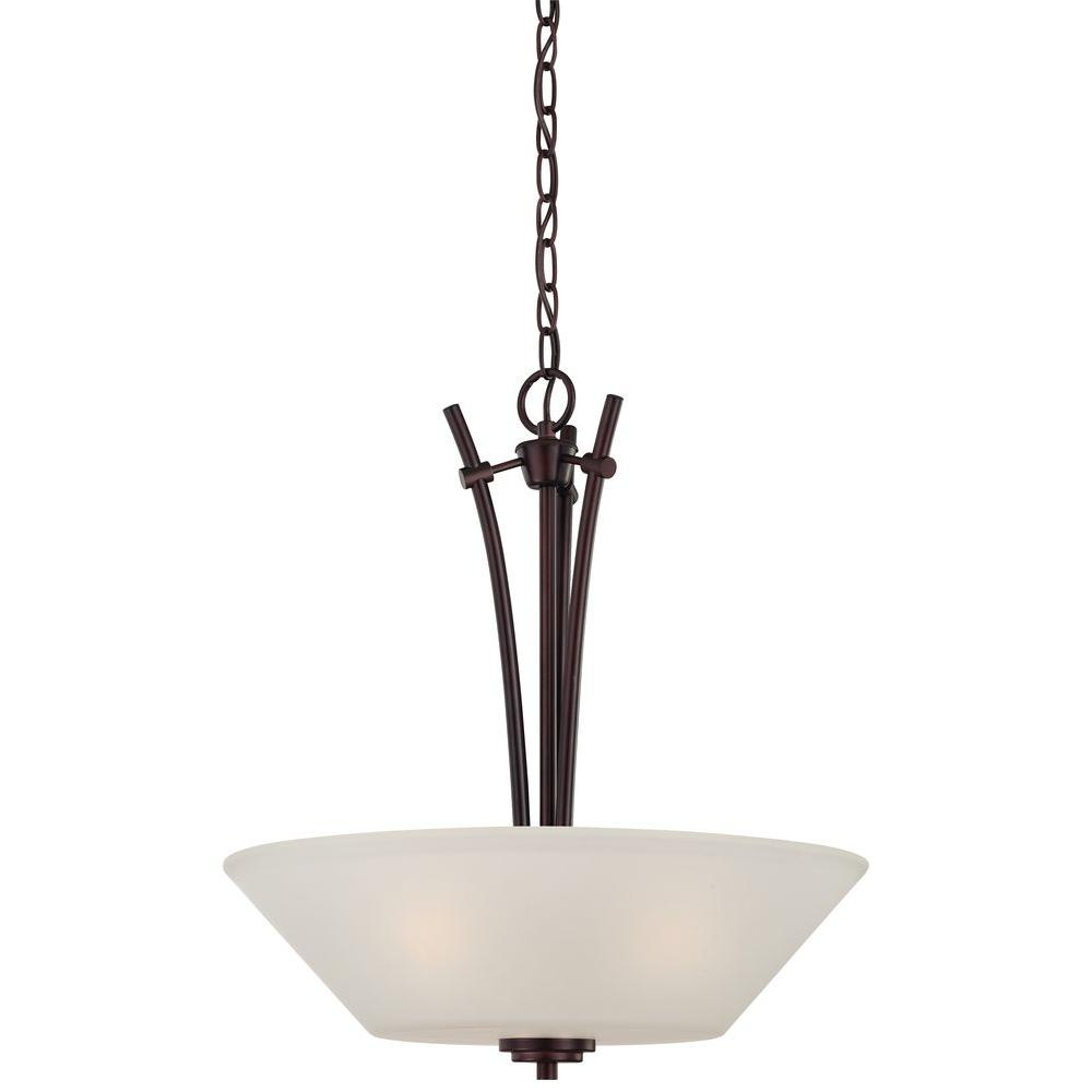 High Quality Pittman 3 Light Sienna Bronze Hanging Pendant Great Pictures