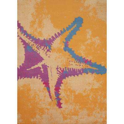 Panama Jack Island Breeze Sea Life Peach 3 ft. x 4 ft. Indoor Area Rug