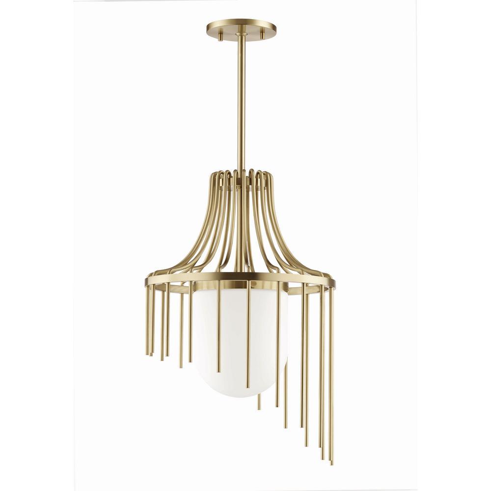 Kylie 1-Light 16 in. W Aged Brass Pendant