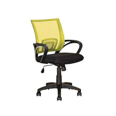 Workspace Black and Yellow Mesh Back Office Chair