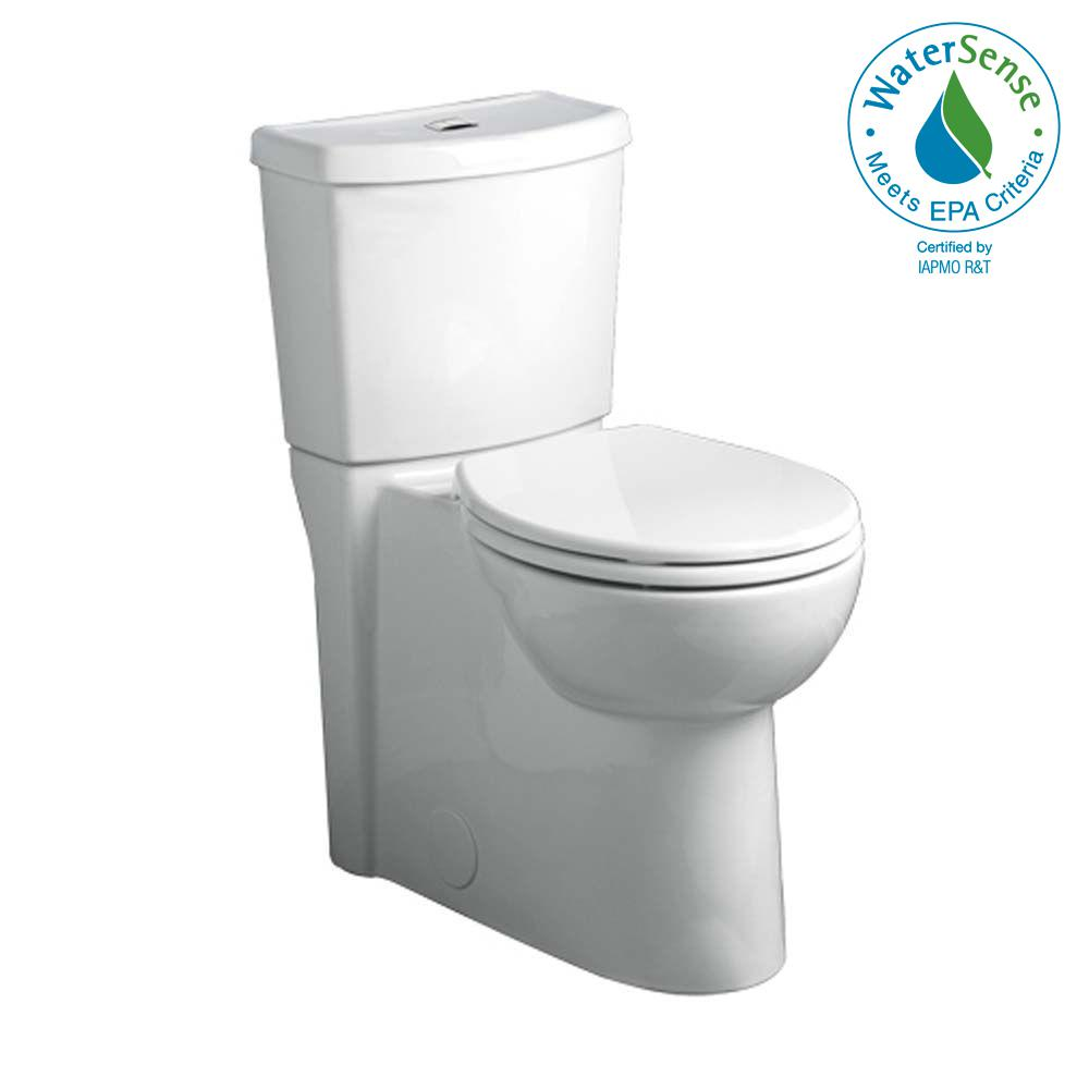Studio Dual 2-piece 1.6 GPF Dual Flush Round Toilet in White