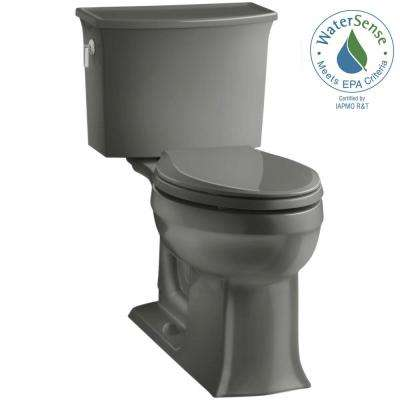 Archer Comfort Height 2-piece 1.28 GPF Single Flush Elongated Toilet with AquaPiston Flushing Technology in Thunder Grey