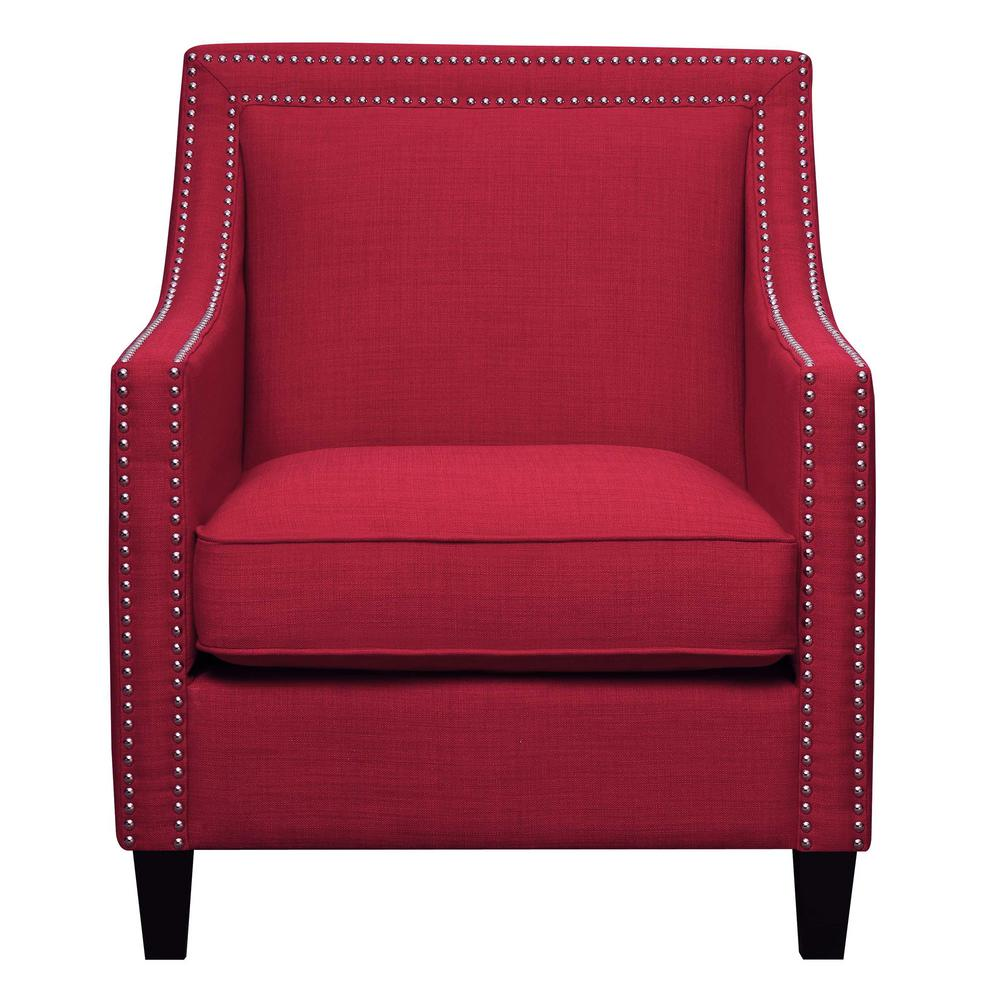 Emery Berry Arm Chair and Ottoman