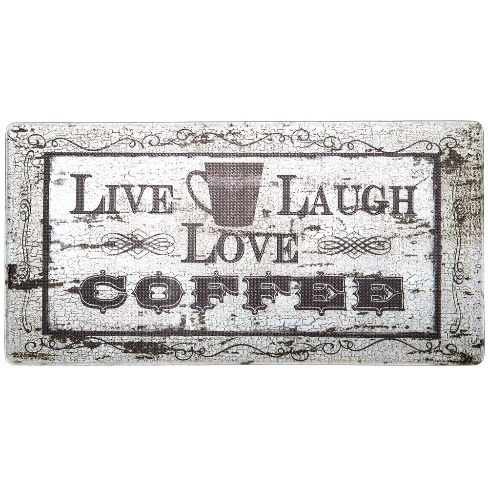 Cook N Comfort Beige Live Laugh Coffee 20 in. x 39