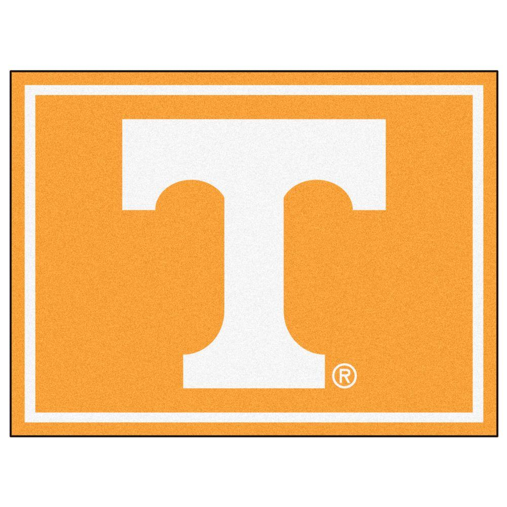 Marvelous Fanmats Ncaa University Of Tennessee Orange 8 Ft X 10 Ft Indoor Area Rug Dailytribune Chair Design For Home Dailytribuneorg