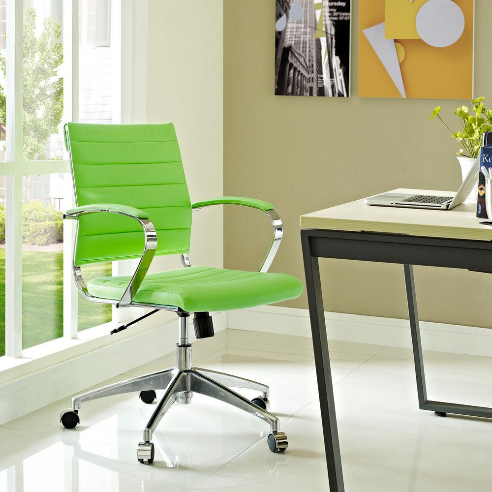 MODWAY Jive Mid Back Office Chair in Bright Green-EEI-273-BGR - The on brown office chair, ergonomic office chair, walmart reclining office chair, director office chair, low office chair, mid century office chair, white office chair, sciatica office chair, executive office chair, coccyx office chair, faux leather office chair, eames office chair, managers office chair, swivel office chair, mesh back office chair, pink office chair, kneeling office chair, task office chair, high-back office chair, red office chair,