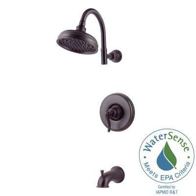 Ashfield Single-Handle 1-Spray Tub and Shower Faucet in Tuscan Bronze