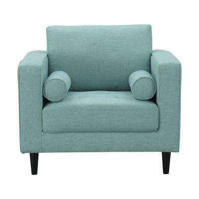 Arthur Mint Green-Blue Tweed 1-Seat Armchair