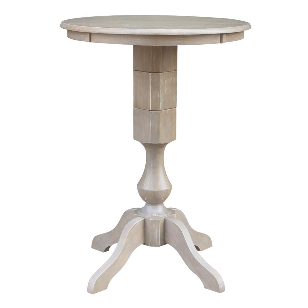 International Concepts Sophia 42 In. H X 30 In. Round Weathered Gray Pedestal  Table