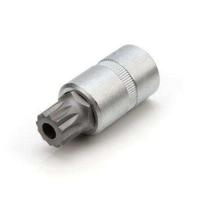 16 mm 1/2 in. Drive 12-Point Triple Square Tamper-Proof Transmission Drain Plug Bit Socket