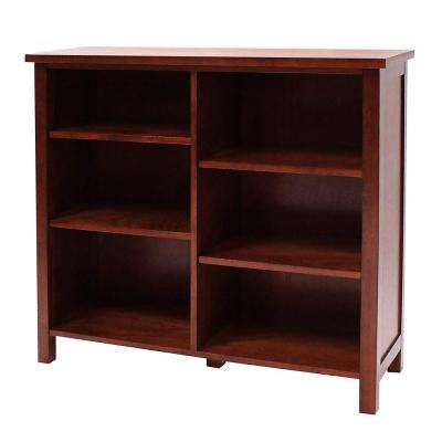 Oakdale Cherry Open Bookcase