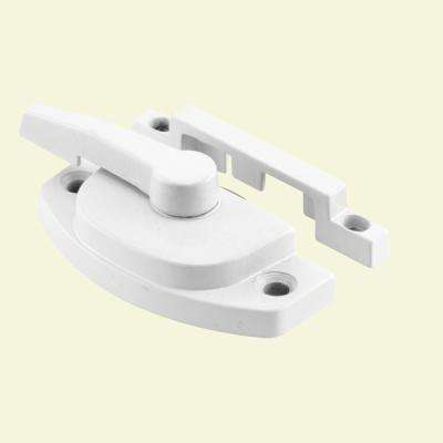 Sash Lock, Diecast Construction, White, Used on Vertical and Horizontal Sliding Windows