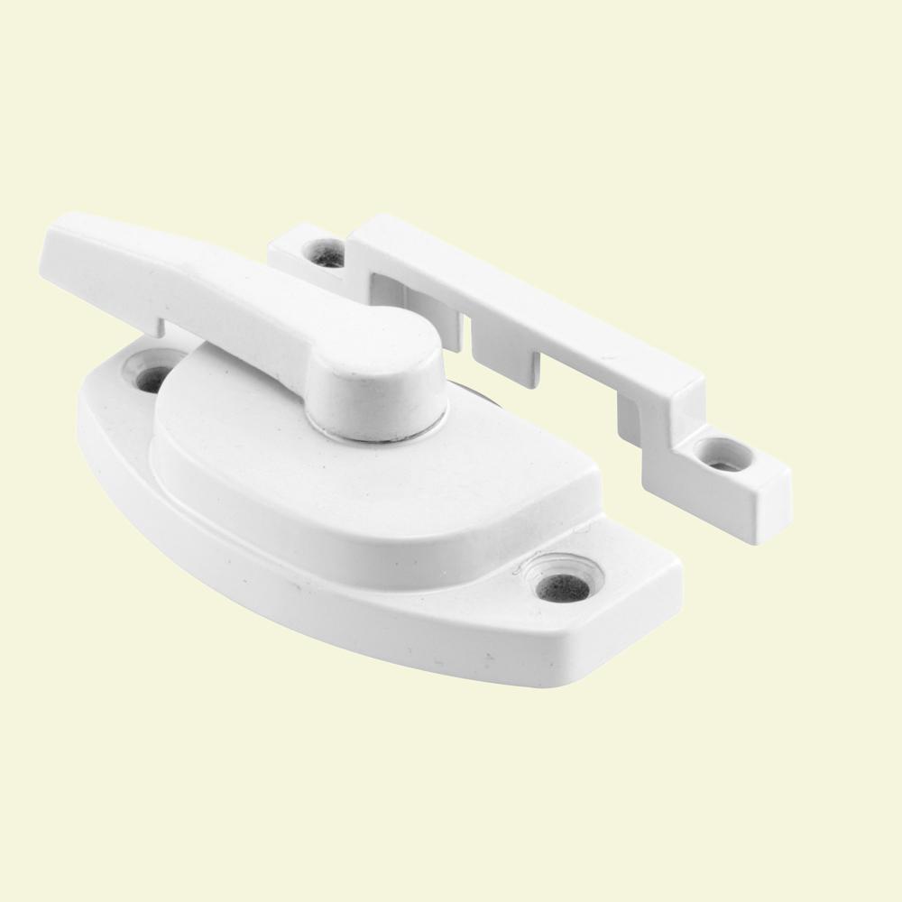 Sash Lock, Diecast Construction, White, Used on Vertical and Horizontal Sliding Windows