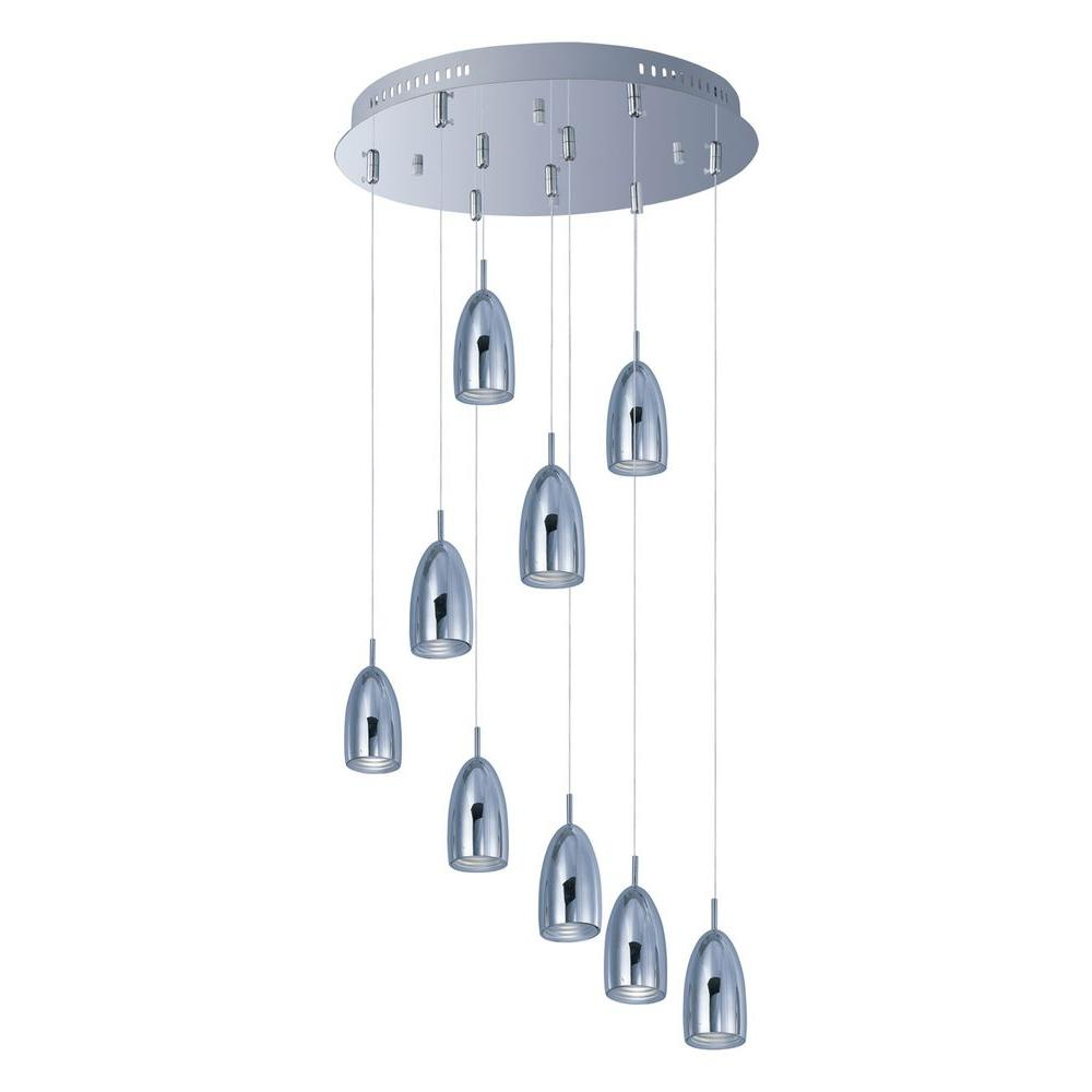 Filament Design Coit 9-Light Polished Chrome LED Ceiling Pendant