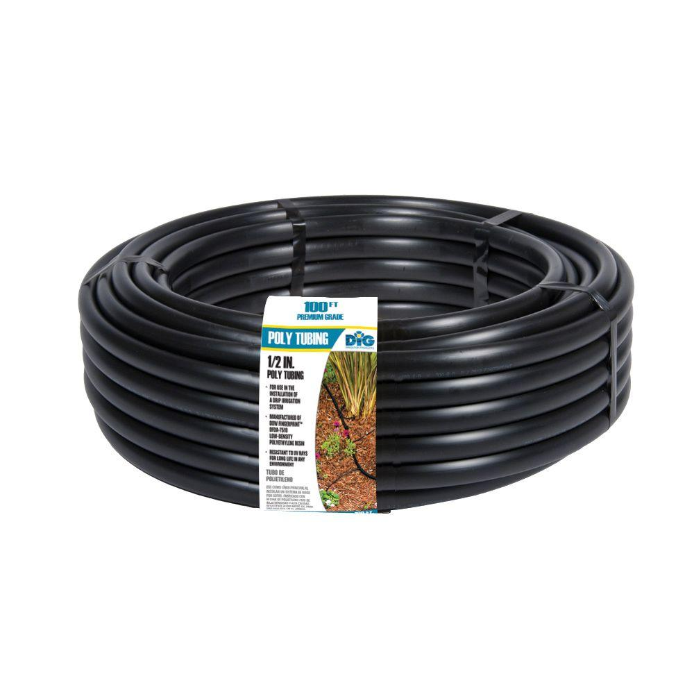 DIG 1/2 in. (0.700 O.D.) x 100 ft. Poly Drip Tubing