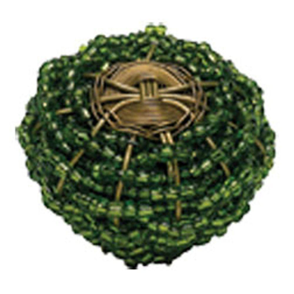 Atlas Homewares Bollywood 2 in. Green And Brass Cabinet Knob