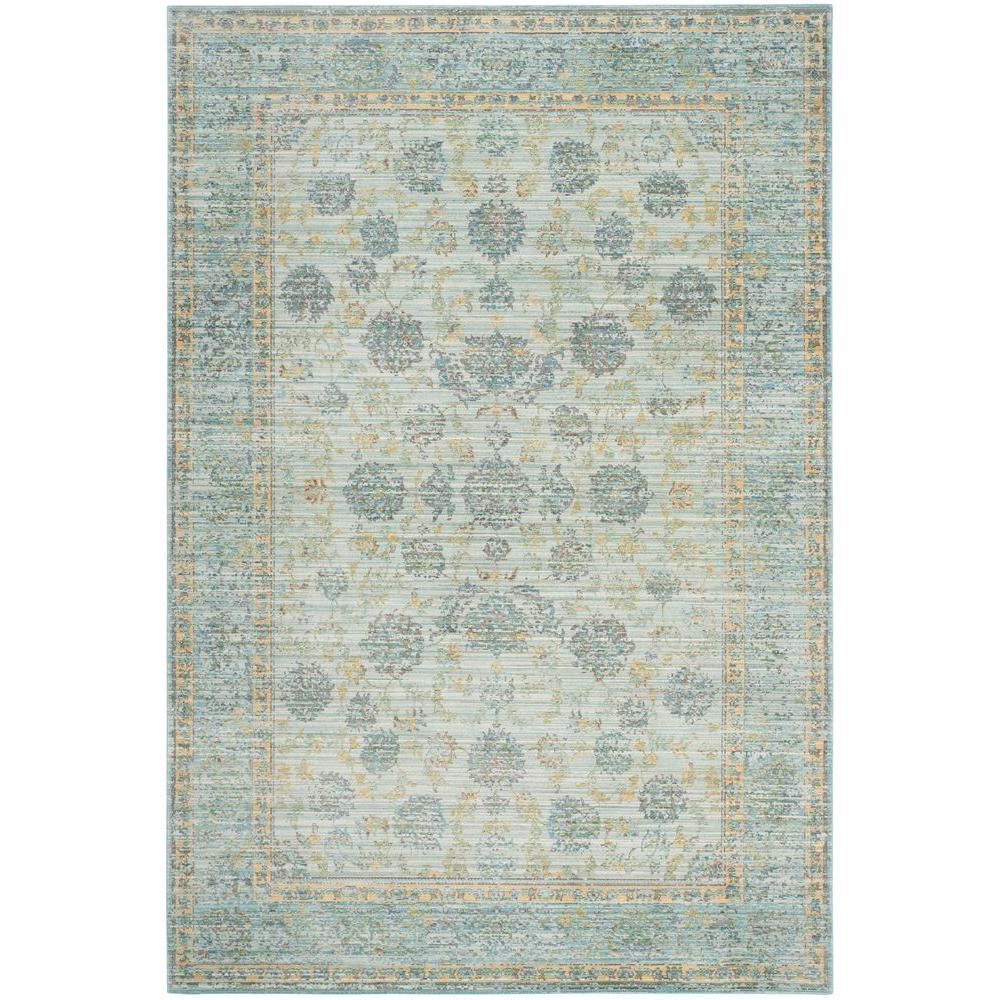 Safavieh Valencia Light Blue Turquoise 5 Ft X 8 Ft Area