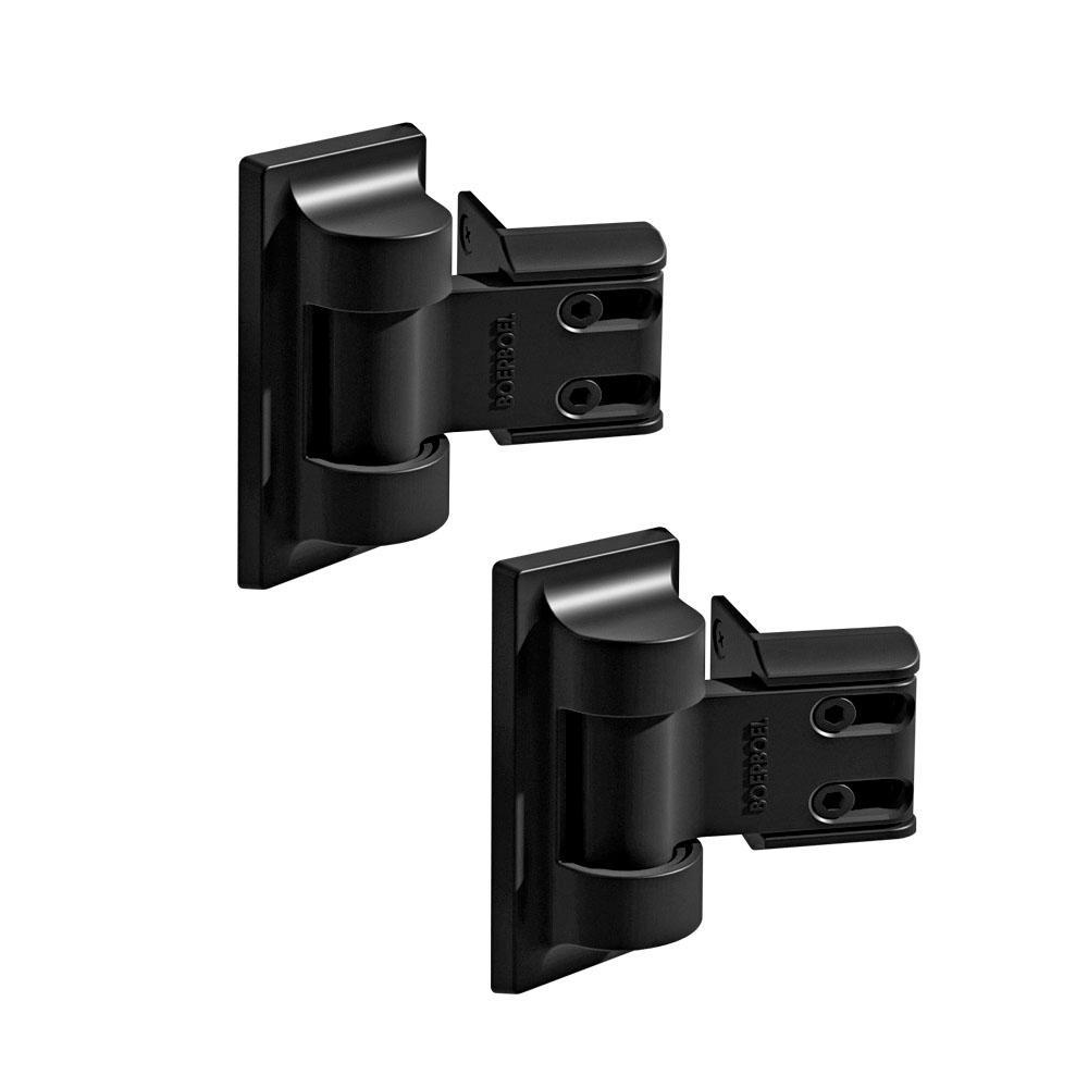 3.4 in. x 12.5 in. Steel Black Standard Wrap Hinge (2-Pack)