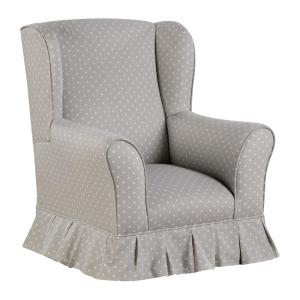 Miraculous Willow French Gray Upholstered Juvenile Kids Skirted Wing Chair Creativecarmelina Interior Chair Design Creativecarmelinacom