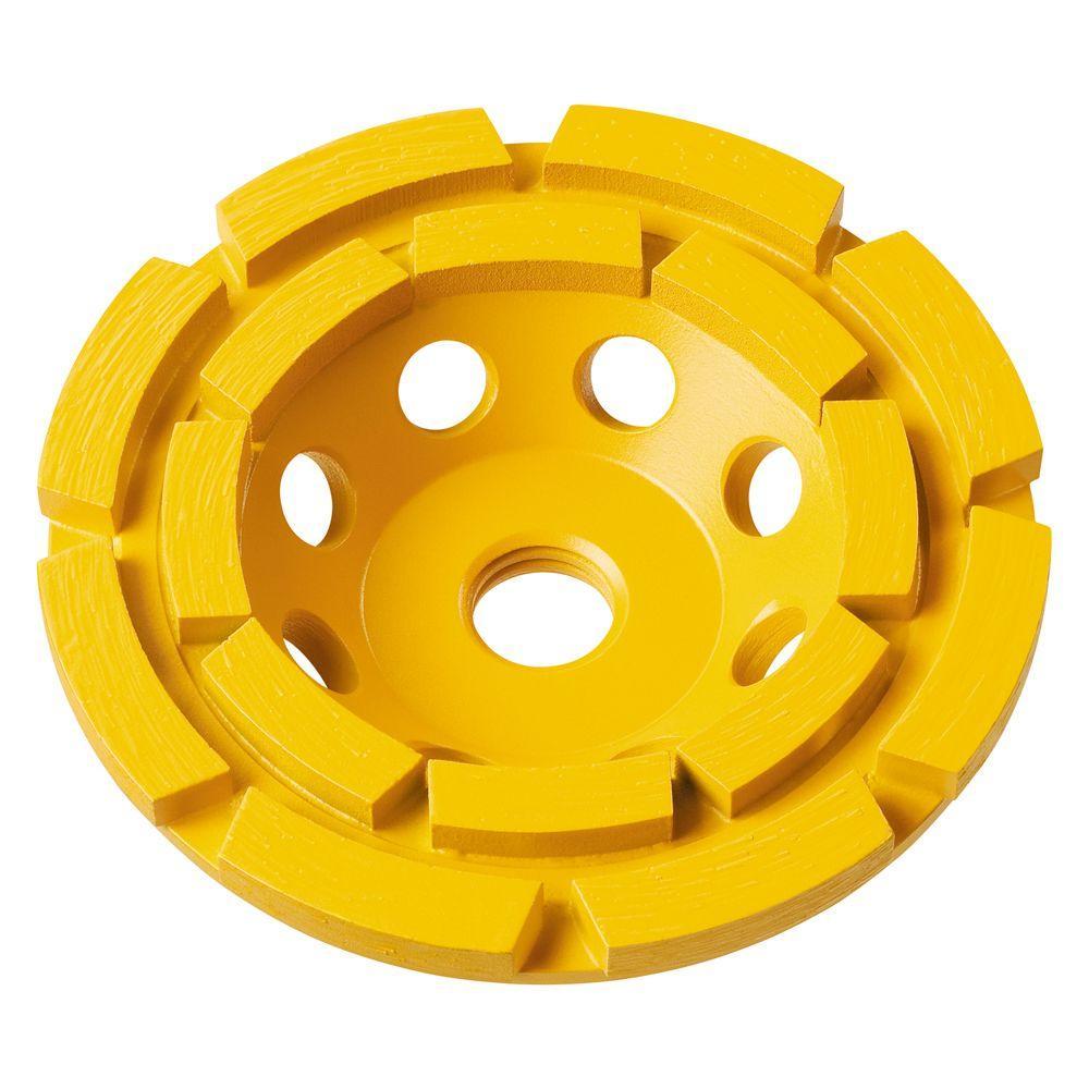 7 in. Double Row Diamond Cup Grinding Wheel